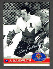1972 Team Canada Frank Mahovlich Autographed Card