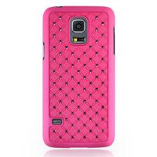 Coque rigide rose avec des strass incrustés pour Samsung Galaxy S5 Mini