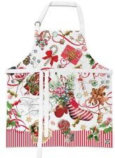 "Michel Design Works Adult ""Peppermint"" Apron-NWT"