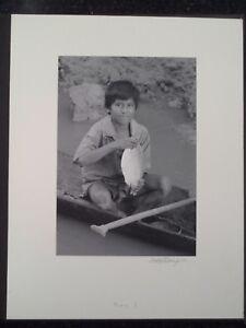 Amazon River Peru Jungle Yaqua Tribe Silver Gelatin Photo #3 Boy & Fish