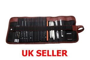 30pc Sketching Set kit Pencil + Charcoal Artist UK