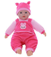 18 Born Soft Bodied Baby Doll Toy With Dummy Baby Sounds Crying Talking