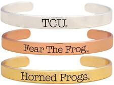 Tcu Horned Frogs Fear The Frog Tri Tone Bangle Bracelet Set Choose 1 or 3