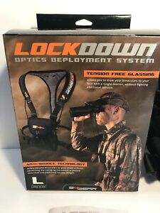 S4 Gear Lockdown Optics Deployment System Binocular Harness - Black - Large NEW