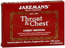 Jakemans Throat - Chest Lozenges Cherry Menthol 24 Each