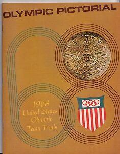 1968 United States Olympic Team Trials Pictorial Vintage Program Magazine