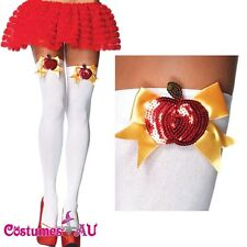 Snow White Opaque Thigh High Stockings Leg Avenue Costume Accessories One Size