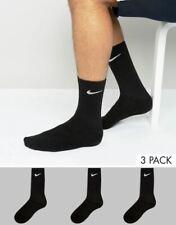 3 Pairs Nike Cushioned Crew Socks Black & White Men's Size 8-12 Women 10-13