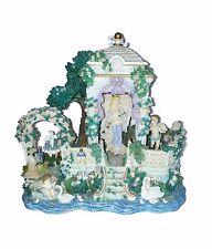 Angel Figurine Music Box Au Clair De La Lune Gazebo Cherubs Swans