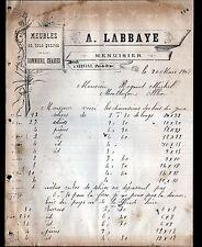 "SERVANT (63) MENUISERIE / MEUBLES SOMMIERS CHAISES ""A. LABBAYE"" en 1908"