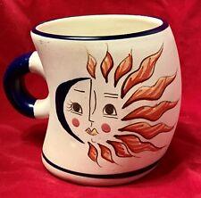 Huatulco Oaxaca Half Moon & Sun Handmade Art Pottery Coffee Tea Drink Mug
