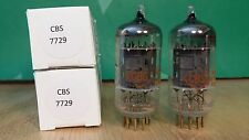 Matched Pair of CBS 7729 (12AX7 sub) Gold Pin Vacuum Tubes - Same Dates