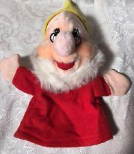 Vintage Disneyland Walt Disney World Doc Snow White Dwarf Hand Puppet Plush