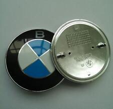 2x für BMW Emblem Vorne Hinten Motorhaube Kofferraum Logo 82mm 2 Pin 51148132375