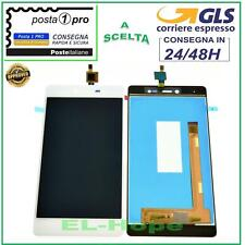 """DISPLAY LCD WIKO Fever 4G TOUCH SCREEN VETRO SCHERMO 5,2"""" MONITOR BIANCO"""