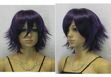 New Fashion Dark Purple Straight Short Cosplay women Wig Full Wig