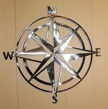 Nautical COMPASS ROSE  WALL ART DECOR  Silver Version