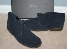 NEW J CREW Classic Suede MacAlister Boots Sz 12 Navy Blue 79438 $148