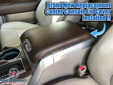2009 2010 2011 2012 Ford F150 Platinum Ed Leather Center Console Lid Cover,Brown