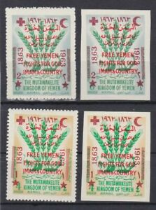 Jemen  A I - A IV postfr./mnh Rotes Kreuz red cross not issued 1963