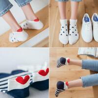 5x Damen Herren Soft Socken Lässig Herzförmige Baumwolle Warme Kurze Strümpfe