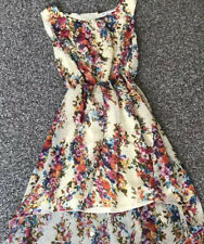 Rare London Floral Dress Long At The Back Short At The Front Size 8