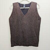 Eileen Fisher Medium Sweater Vest Pullover Knit Metallic V-Neck Sleeveless
