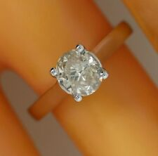 1.11 ct solitaire real diamond wedding engagement ring 18k white gold ring