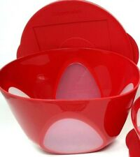 Tupperware Impressions Window Bowl 17 Cup Red New