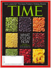 TIME Magazine December 3, 2012 Healthy Food Dr. Oz, Obama, Occupy Wall Street