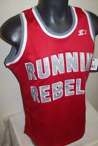 UNLV RUNNIN REBELS STARTER Black Label SHIRT S M L XL 2X 3X 4X RED & GRAY
