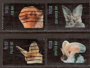Scott #3661-64 Set of 4, American Bats