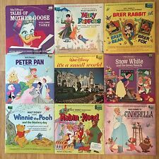 Lot of 9 Disney Long Play Records LP - Movie Cartoons - Sing A Long Fairy Tale