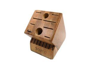 CUTCO Knife Block 18 Slot Honey Finish Oak Made in USA