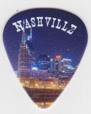 NASHVILLE Tennessee NIGHT SKYLINE GUITAR PICK  MUSIC CITY Country Music Opry USA