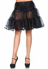 Leg Avenue Women's Shimmer Organza Petticoat Skirt, Black, One Size