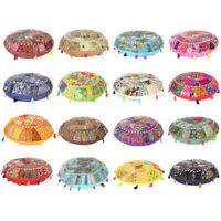 Colorful Patchwork Round Floor Pillow Cushion Cover Meditation Seating Throw Han