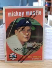 1996 Topps Mantle Finest Refractors #9 Mickey Mantle 1959 Topps