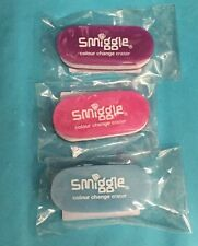 Brand New SMIGGLE Colour Change Erasers x 3
