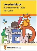 NEU: Übungsblock für Kinder ab 5 Jahren - Buchstaben und Laute