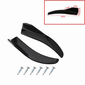 2x Car Rear Bumper Lip Diffuser Splitter Spoiler Scratch Protector Glossy Black