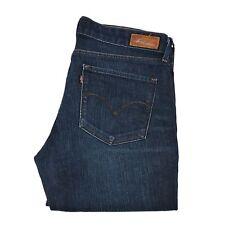 Levi's Strauss Damen-Frauen Jeans Größe 29x34 dunkelblaue Hautenge Stiefel
