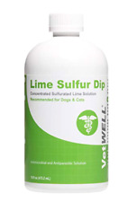 Lime Sulfur Dip for Dogs Cats Horse for Mange Ringworm Skin Mites Treatment 16oz