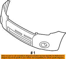 FORD OEM 08-12 Escape-Bumper Cover 8L8Z17D957CPTM