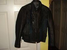 WOMAN'S LEATHER MOTORCYCLE JACKET(COAT), VERY HIGH GRADE, FANCY TRIM, SIZE: XS