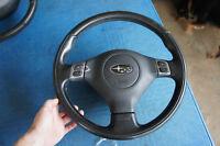 JDM Subaru Legacy BP5 BP9 leather SRS Steering wheel airbag Sti impreza wrx bh5