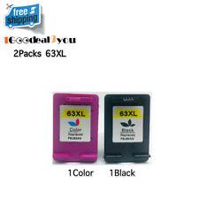 2Pk 63XL Ink Cartridges for HP Envy 4512 4516 4520 4522 OfficeJet 5255 5258