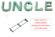 UNCLE Funeral Flowers Oasis Frame and Letters Tribute Naylorbase with Stand