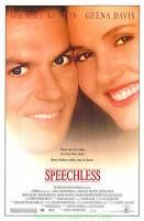 SPEECHLESS MOVIE POSTER SS 27x40  MICHAEL KEATON GEENA DAVIS 1994