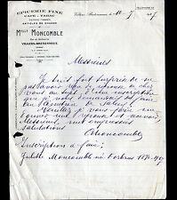"""VILLERS-BRETONNEUX (80) EPICERIE FINE / CAFE-TABAC """"Mlle MONCOMBLE"""" en 1927"""